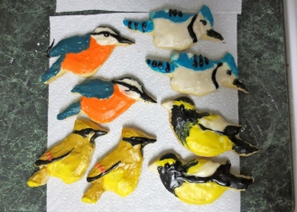 2012: Red-breasted Nuthatch, Blue Jay, Cedar Waxwing, Evening Grosbeak